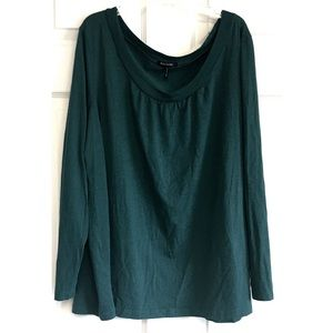 Daisy Fuentes Jade Green Top Stretch 2X Plus size